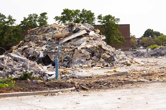 Demolition of Westbrooke Village Shopping Center in Shawnee is Underway.